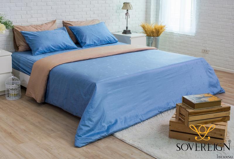 ชุดเครื่องนอน ผ้าปูที่นอน สีฟ้า รุ่น PJX – Jacquard 700t