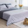 Bed sheet ชุดเครื่องนอนผ้าปูที่นอนขนาด 6 ชิ้น สีเทาอ่อน รุ่น PJX – Jacquard 700t