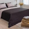 ชุดเครื่องนอน ผ้าปูที่นอน 6 ชิ้น ลายริ้ว สีดำ